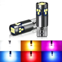 50x car signal lamp t10 w5w led canbus bulbs 18smd 2014 chips w5w 168 194 car interior reading light wedge side lamps 12v