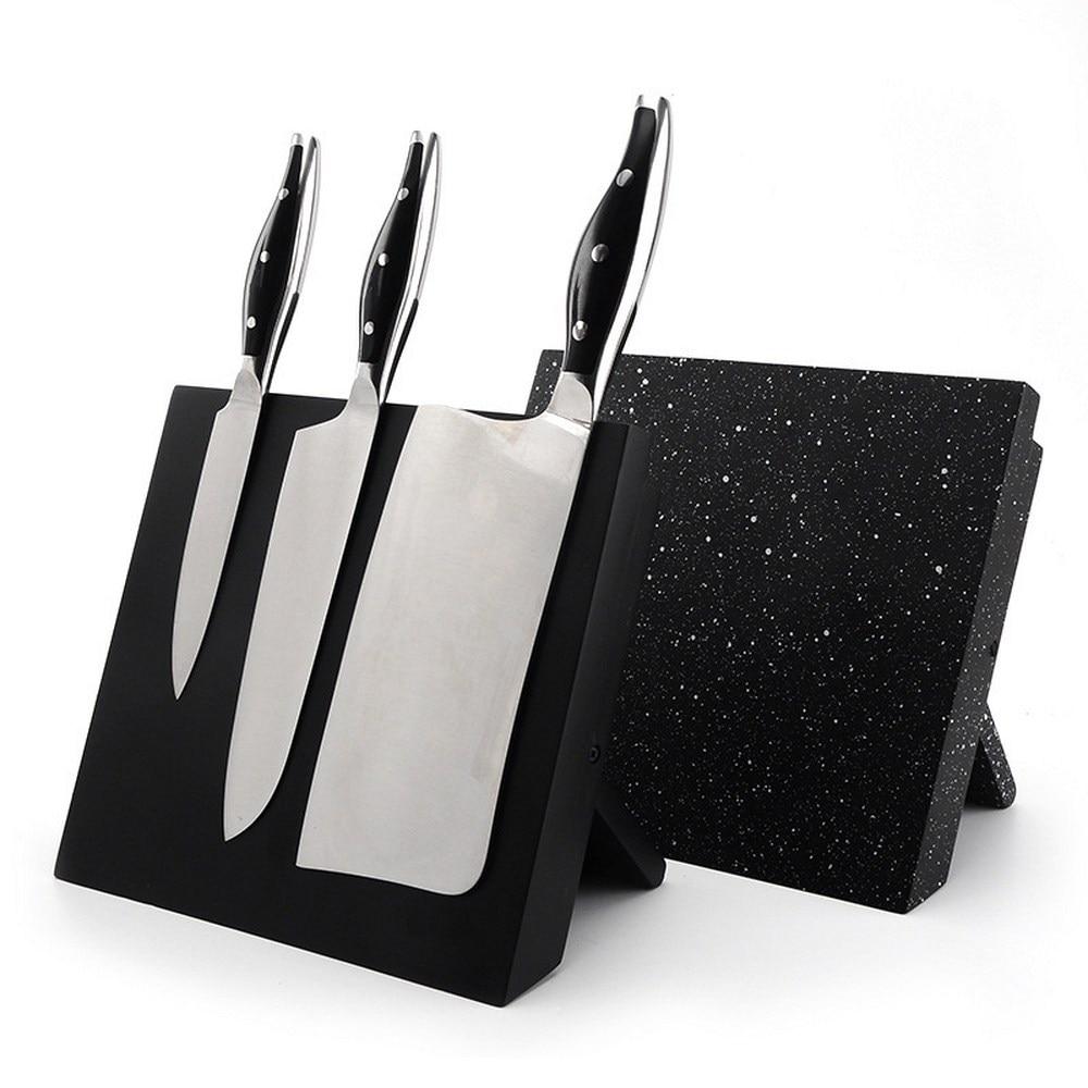 1 قطعة MDF + المغناطيسي سكين حامل حامل نيس سكين كتلة سكين شريط المنزلية سكاكين المطبخ اكسسوارات أسود/ندفة الثلج اللون نمط