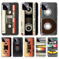 mixtape vintage magnetic silicone case for apple iphone 12 11 pro mini x xr xs max se 2020 7 8 6 6s plus 5 5s cover