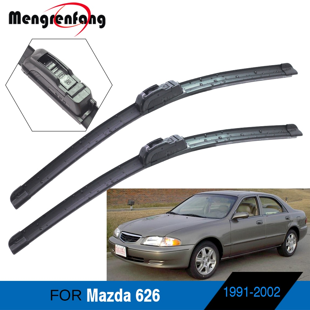 Limpiaparabrisas de goma blanda para coche Mazda 626, accesorios para coche, escobillas...
