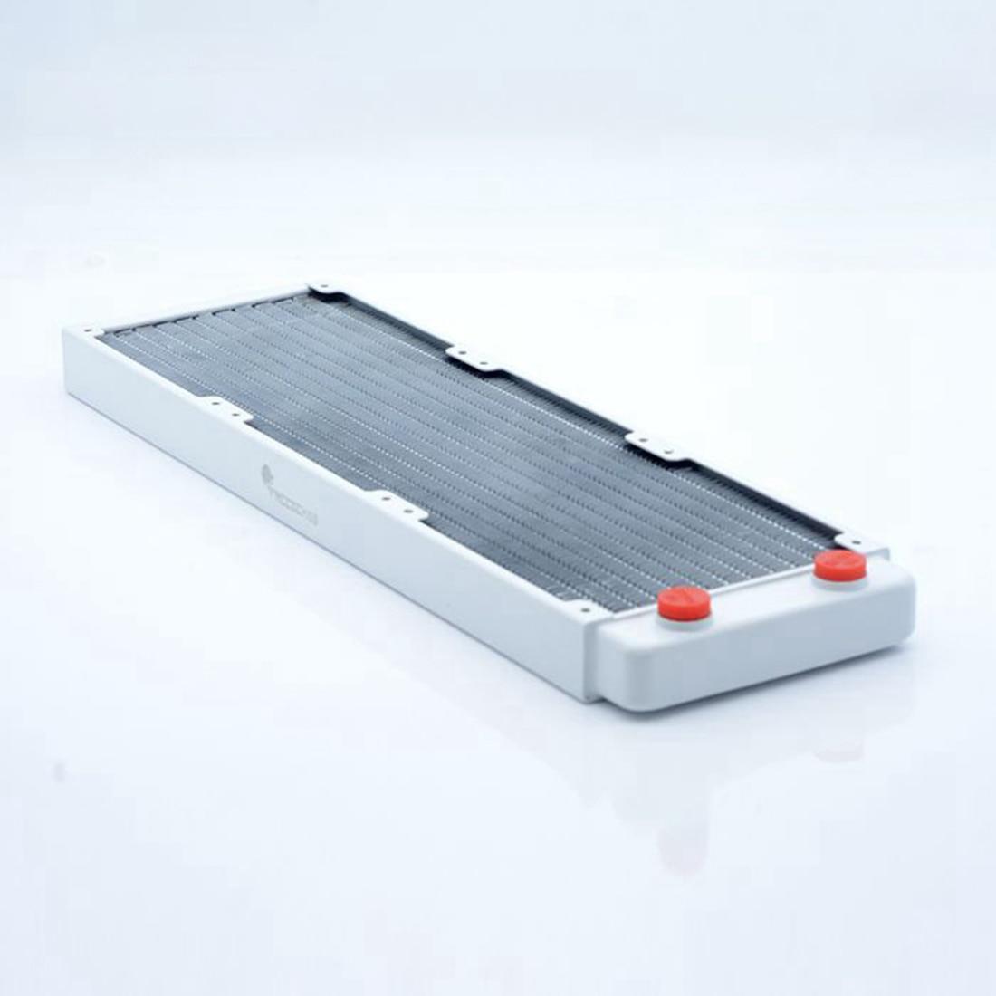 FREEZEMOD CPU الحرارة بالوعة الكمبيوتر مبرد ماء مسند تبريد للاب توب مدمج به مكبر صوت الوسادة للكمبيوتر-أبيض (TSRP-WP-360MM /240 مللي متر/120 مللي متر)