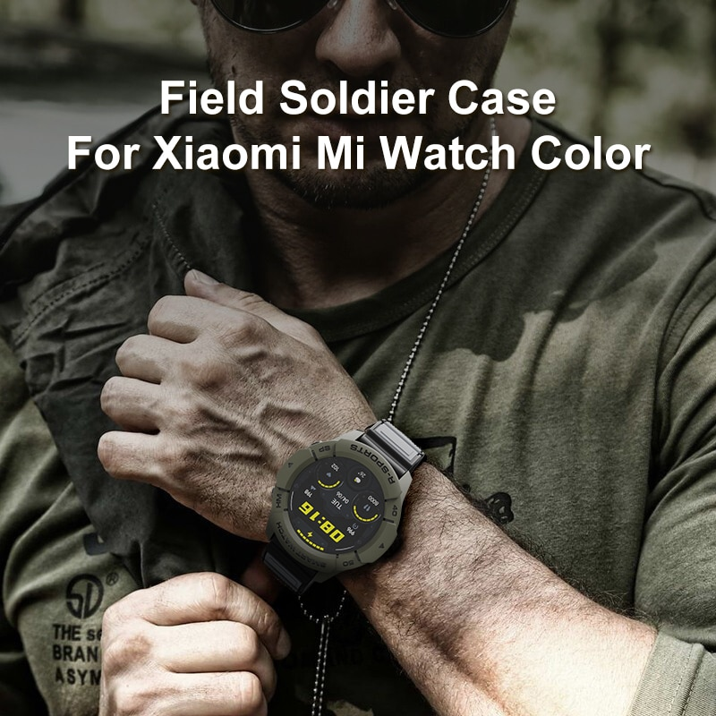 Field soldier Case for Xiaomi Mi Watch Color Global Version Smart watch TPU Shell Protector Cover Ar