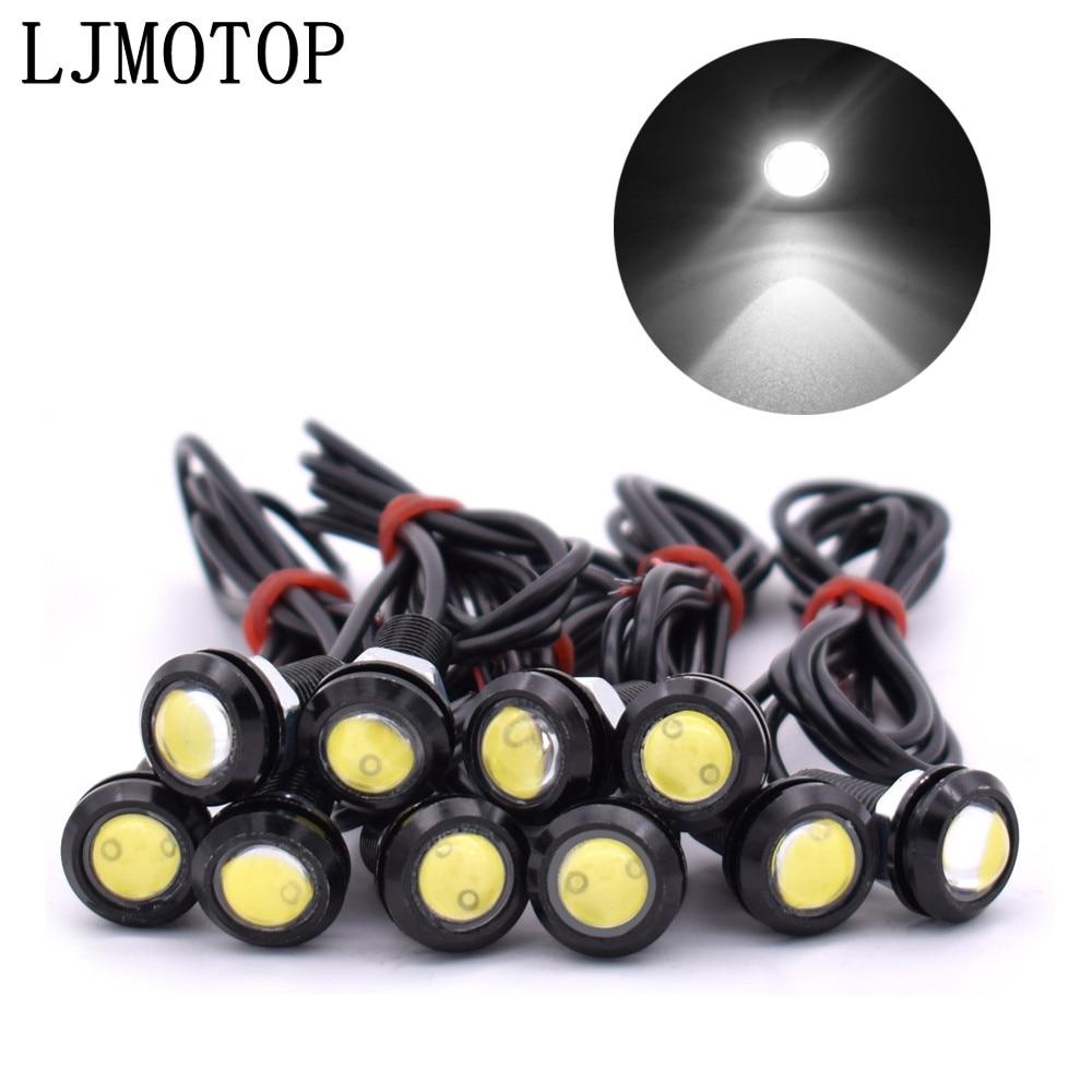 10 piezas de luz LED de respaldo de marcha atrás DRL Luz de circulación diurna para Kawasaki ZX10R ZX12R ZX6R Z650 Z900 Z800 NINJA 250
