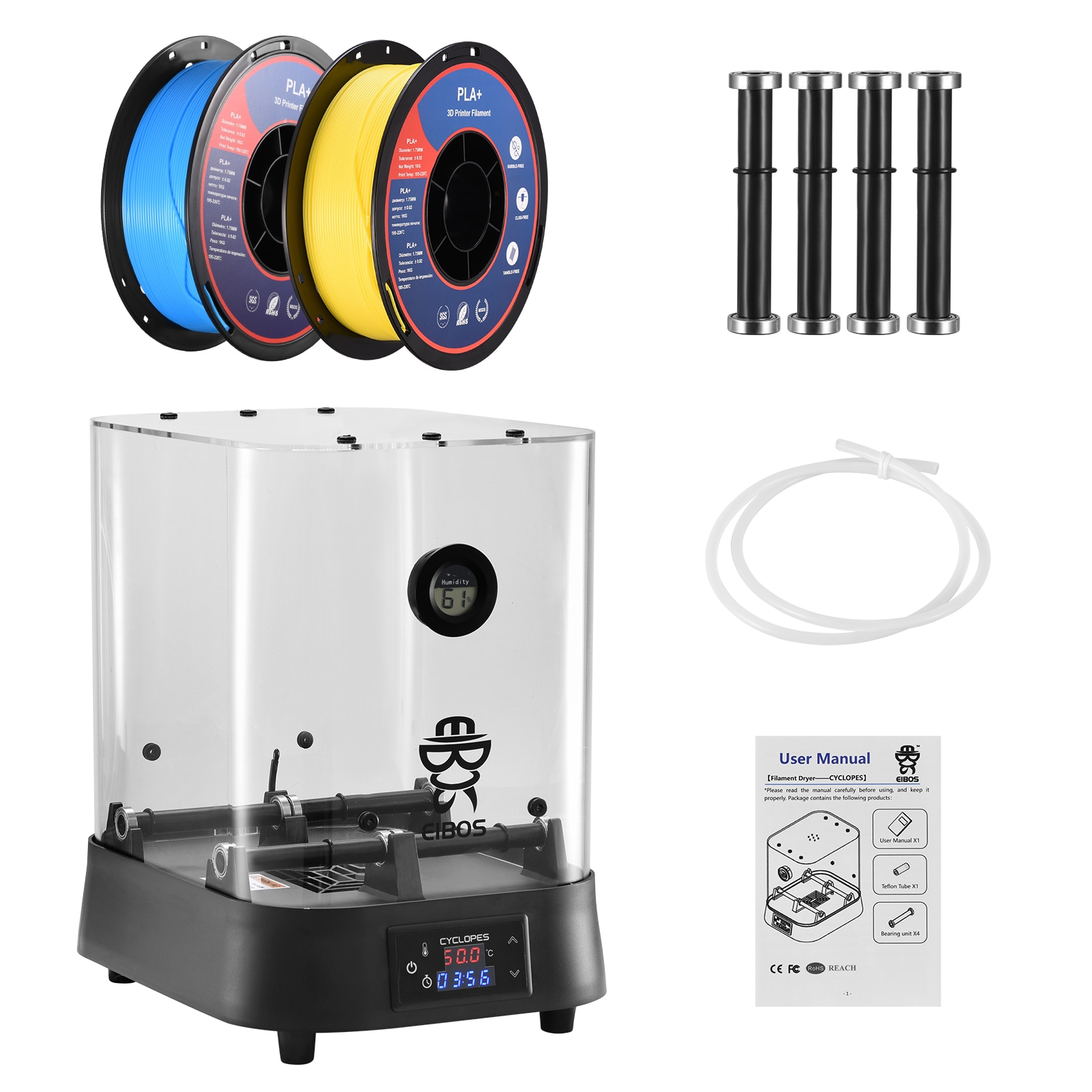 Extra Large Dry Box Filament Dryer Box Heating Drying Filaments Storage Box For Keeping Filament Dry 2KG Filaments Dryer enlarge