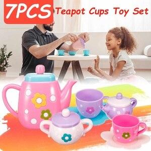 ГОРЯЧАЯ детская головоломка игровой домик игрушка Мода Охрана окружающей среды материал имитация чайный набор игрушка