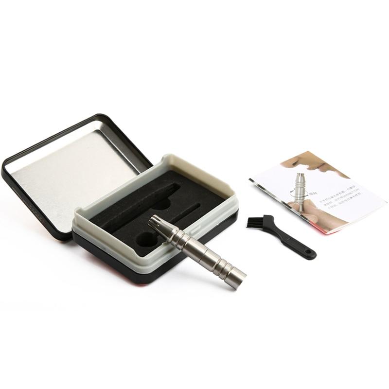 New portable Nose Hair Trimmer Manual Stainless Steel Nose Hair Removal Men Shaving Razor Rotatable Ear Nose Hair Shaver enlarge