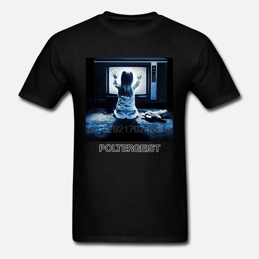 Poltergeist tela de tv pose filme de terror bbmt504 unisex camisa preta t (1)