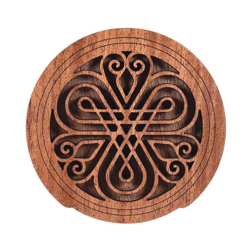 Гитара деревянная Soundhole звук отверстие крышка блок отзывы буфер из красного дерева для эквалайзера акустические народные гитары 7 #