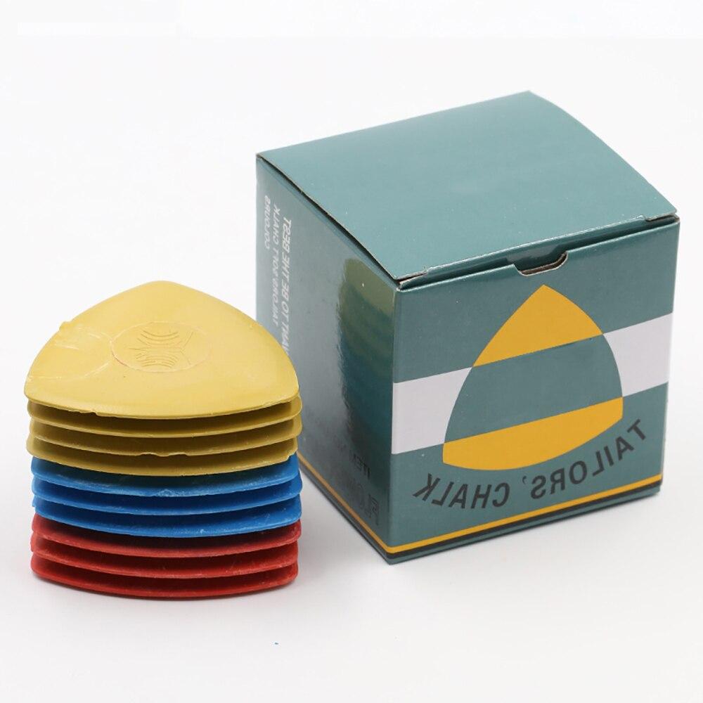 (10 unids/caja) tiza para Sastre Multicolor tiza tela marcador pigmento corte tamaño tiza accesorios de costura DIY sastrería ropa herramienta
