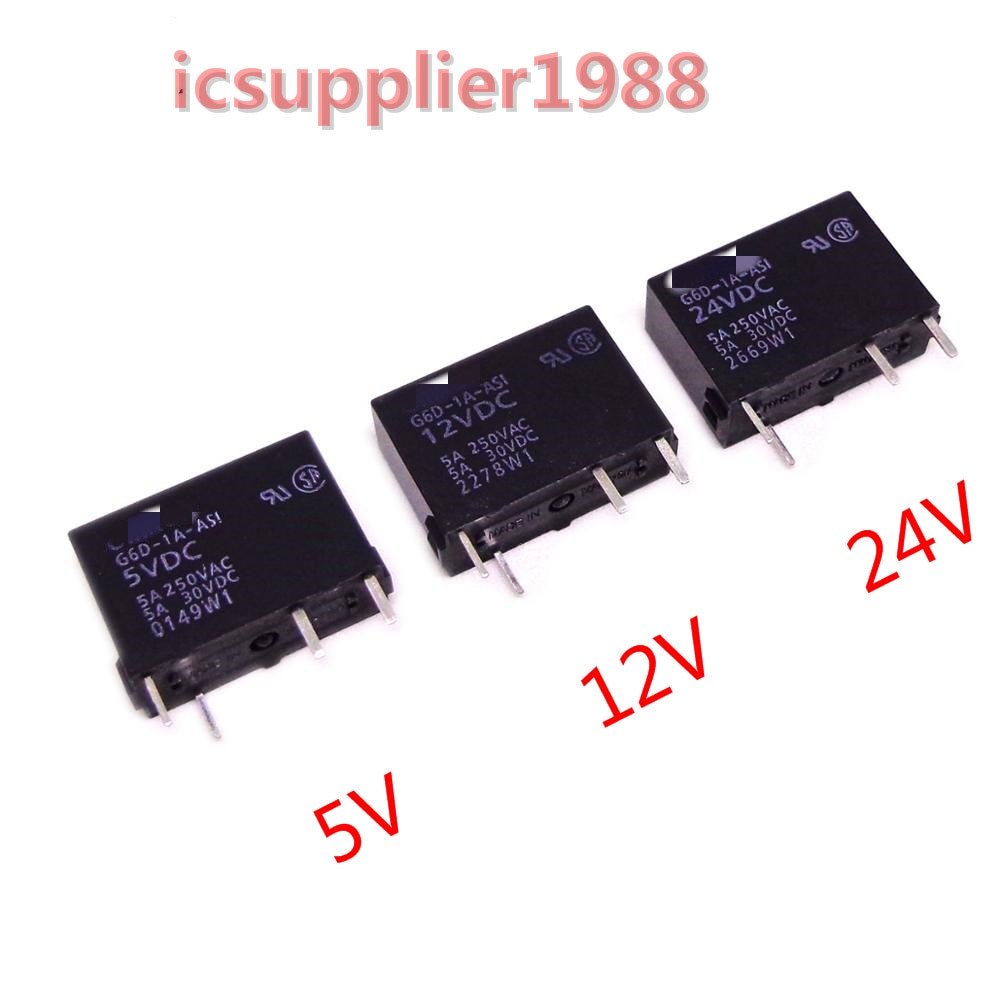 10 Uds relé de G6D-1A-ASI 5VDC 12VDC 24VDC G6D-1A 5V 12V 24V DC relé de G6D-1A-ASI-5VDC G6D-1A-ASI-12VDC G6D-1A-ASI-24VDC