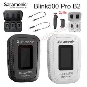 Image 1 - Микрофон Saramonic Blink500 Pro Lavalier 2,4 ГГц беспроводной микрофон Blink 500 PRO с беспроводной зарядкой чехол для студийного интервью