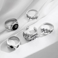 in 2021 ms goth punk rock hip hop silver restoring ancient ways ring set simple personality girl ring jewelry gifts of jewelry