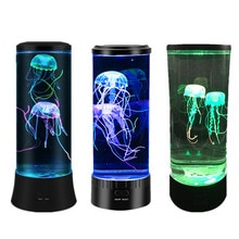 USB Power LED Jellyfish Night Light Mood Desk Bedside Lamp Fantasy Aquarium Hypnotic Color Changing Kids Night Light Home Decor