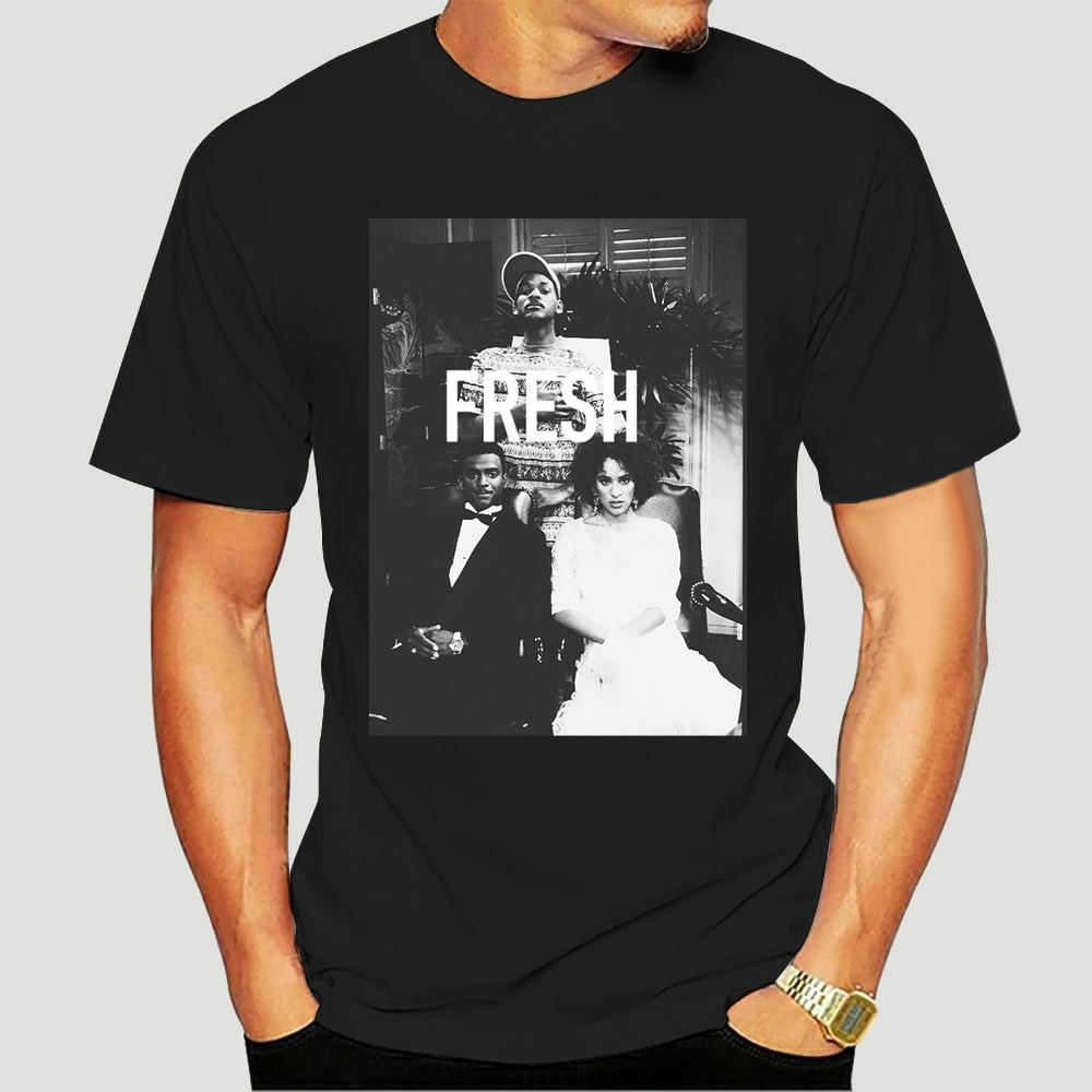 Camiseta fresca príncipe de BEL AIR SQUAD WILL SMITH cariton HILARY BANKS-sbz1235-1649A blanco