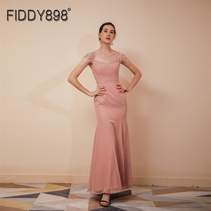 Formal Evening Gowns Strap Chiffon New Elegant V Neck Slit Sleeveless Party Dress Luxury Dress Gown For Women Robe A-line