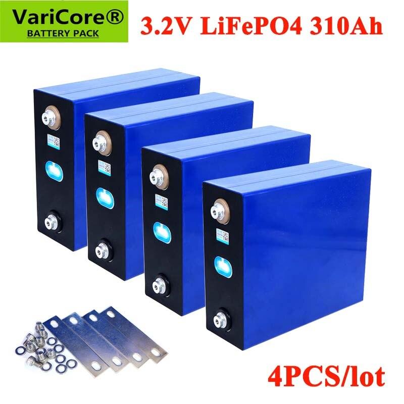 VariCore 4 قطعة 3.2 فولت 310Ah 280Ah Lifepo4 بطارية قابلة للشحن ليثيوم الحديد الفوسفات الخلايا الشمسية 12 فولت 24 فولت 36 فولت Lifepo4 الولايات المتحدة/الاتحاد ال...