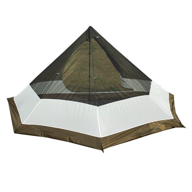 XC tienda de pirámide interior para exteriores, mochilero, tienda de campaña turística para senderismo, combina con tipi de Camping, tienda de pirámide tienda con toldo, tienda de malla de verano