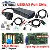 Volledige Chips Diagbox 7.83 8.55 Lexia3 921815C 12 Stuks Nec Relais 7 Pcs Optocouplers Multi-Taal Psa Lexia 3 PP2000 Gouden Pcb Board