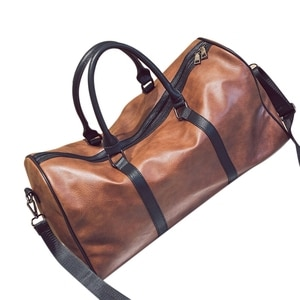 ASDS-Leather Outdoor Large Gym Duffel Bag Travel Weekend Overnight Luggage Carry,#1 Brown(Pu Leatther)