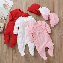 Vêtements princesse pour petites filles   Combinaison en dentelle + chapeaux, ensemble de vêtements pour bébés filles, ensemble de cadeaux pour nourrissons, 2 pièces