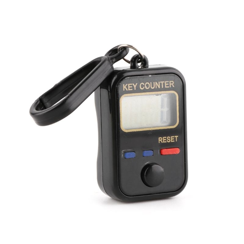 ЖК-дисплей цифра электронный счетчик счетчик 0-99999 брелок палец счетчик для шитья вязания плетения инструмента