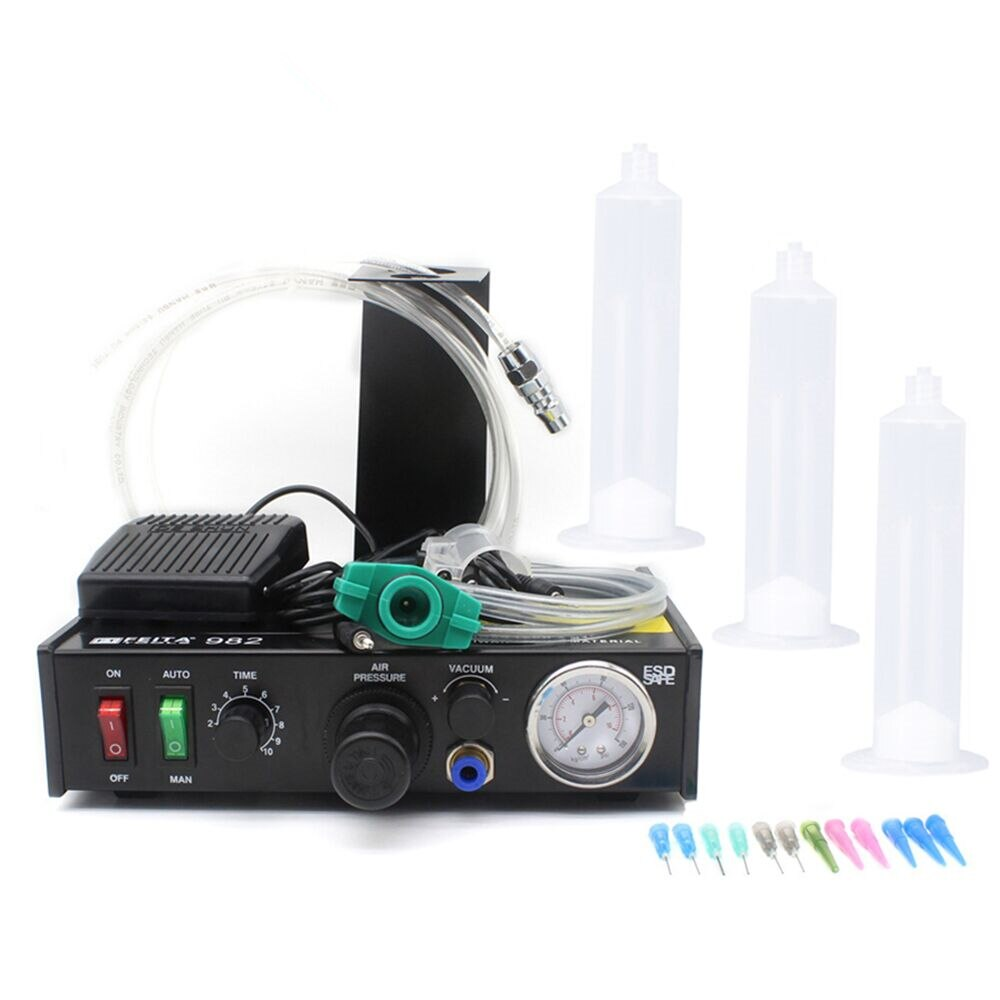 FEITA 982, dispensador automático de pegamento, máquina cuentagotas de controlador de pasta adhesiva líquida de soldadura