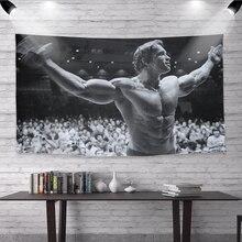 Arnold Schwarzenegger Fitness Inspirational Art Silk Poster Print Fitness Inspirational Picture Office Mural Home Decor Bedroom