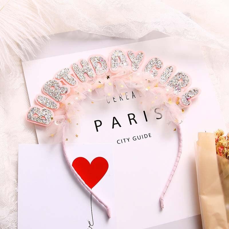 Bebé niña rosa lentejuelas encaje cumpleaños celebrar fiesta pelo cinta para el...