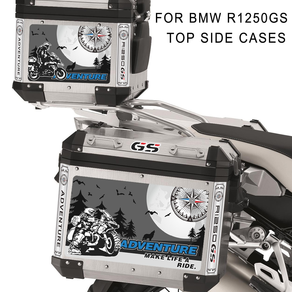 Fundas laterales para maletero de motocicleta, pegatinas de aluminio para equipaje, Adventure para BMW R1250GS R1250 1250 R ADV GS HP 2019 2020