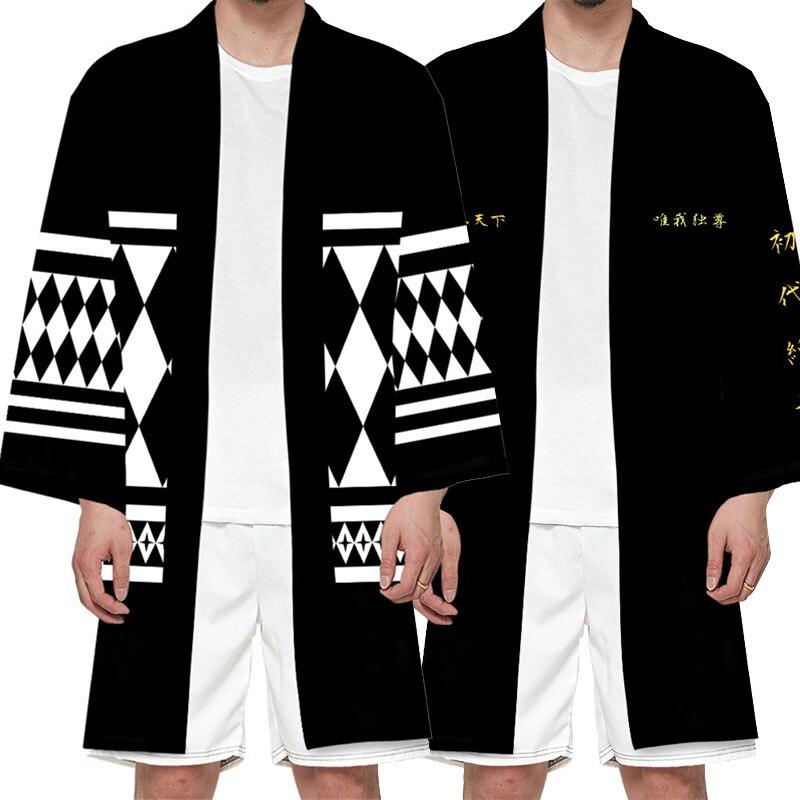 Anime Tokyo Revengers Kimono Cosplay Costume Sano Manjiro Ryuguji Ken Polyester Long Cloak Tops Jack