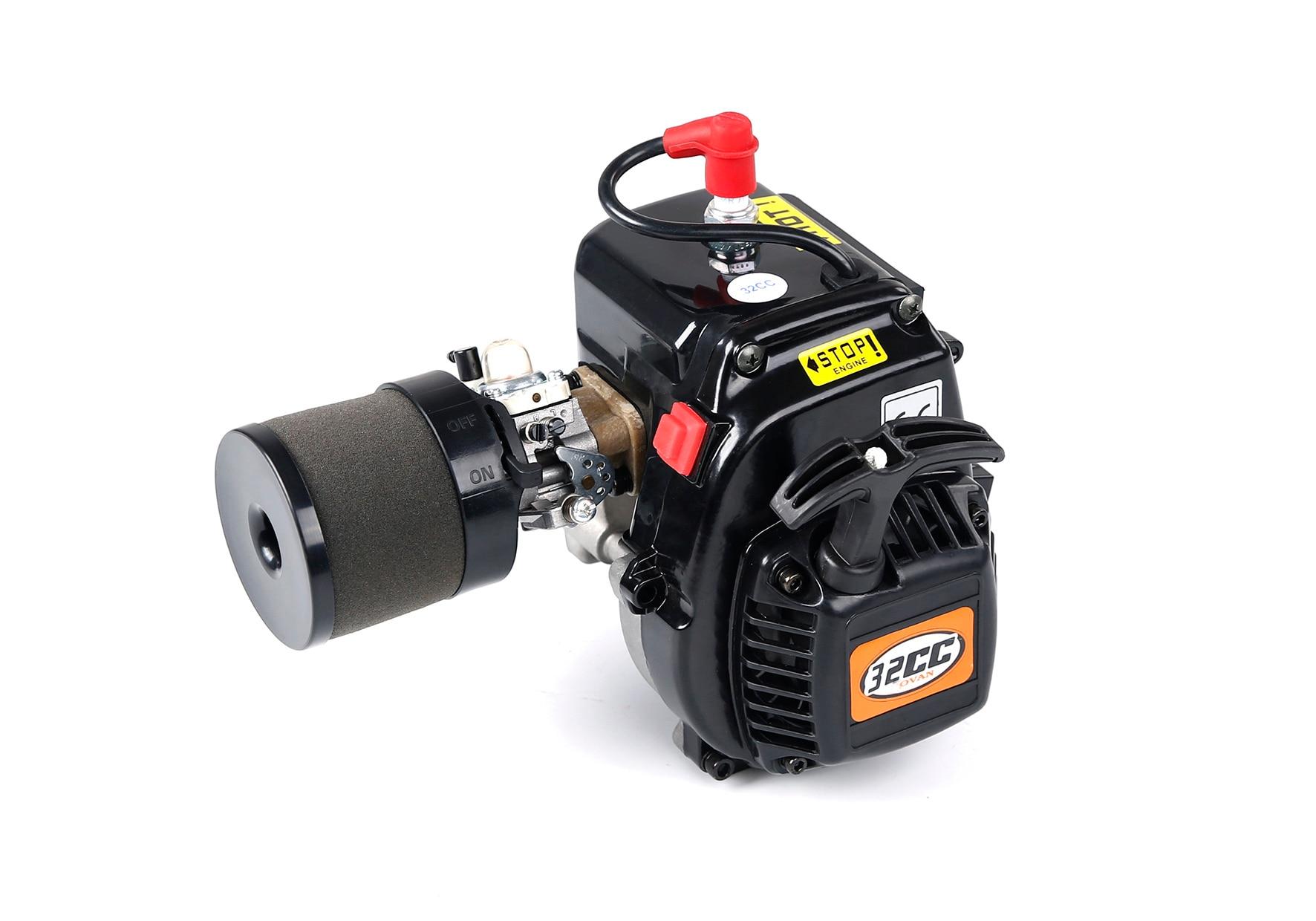 32CC 4 Bolts Easy Start Engine (with Walbro813 Carburetor NGK Spark Plug) Fit for 1/5 HPI ROVAN ROFUN KM BAJA Losi Rc Car Parts