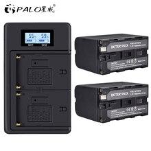 NP-F960 NPF960/F970 LCD Dual Ladegerät + 2Pcs 7200mAh NP-F970 NP F970 Power Display Batterie für SONY f930 F950 F770 F570 CCD-RV100