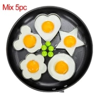 5pcsset stainless steel egg mold pancake rings fried egg mould shaper kitchen cooking tools kitchen accessories gadgets