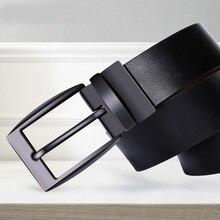 AIRGRACIAS Belts For Men High Quality Genuine Leather Belt Luxury Designer 360° Spin Buckle Belts Men Fashion Jeans Strap Male
