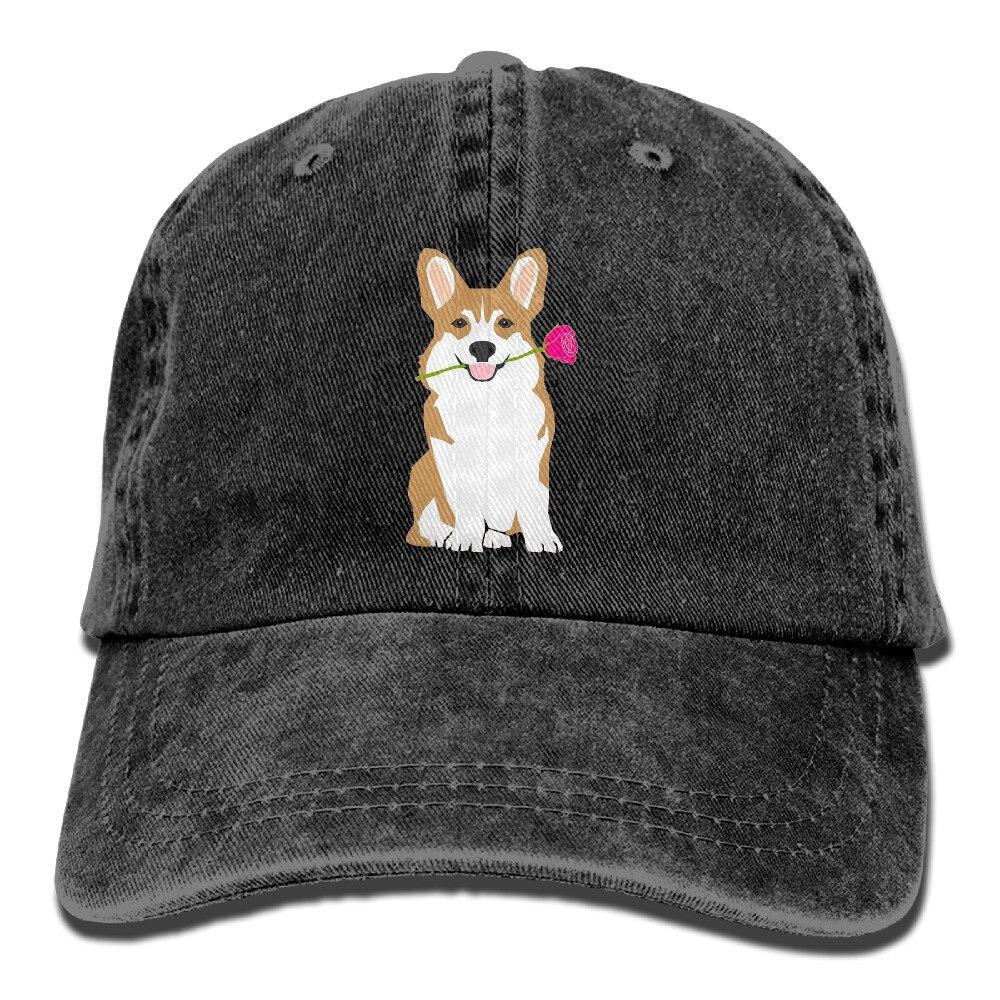 Cute Corgi Adult Sport Adjustable Baseball Cap Cowboy Hat