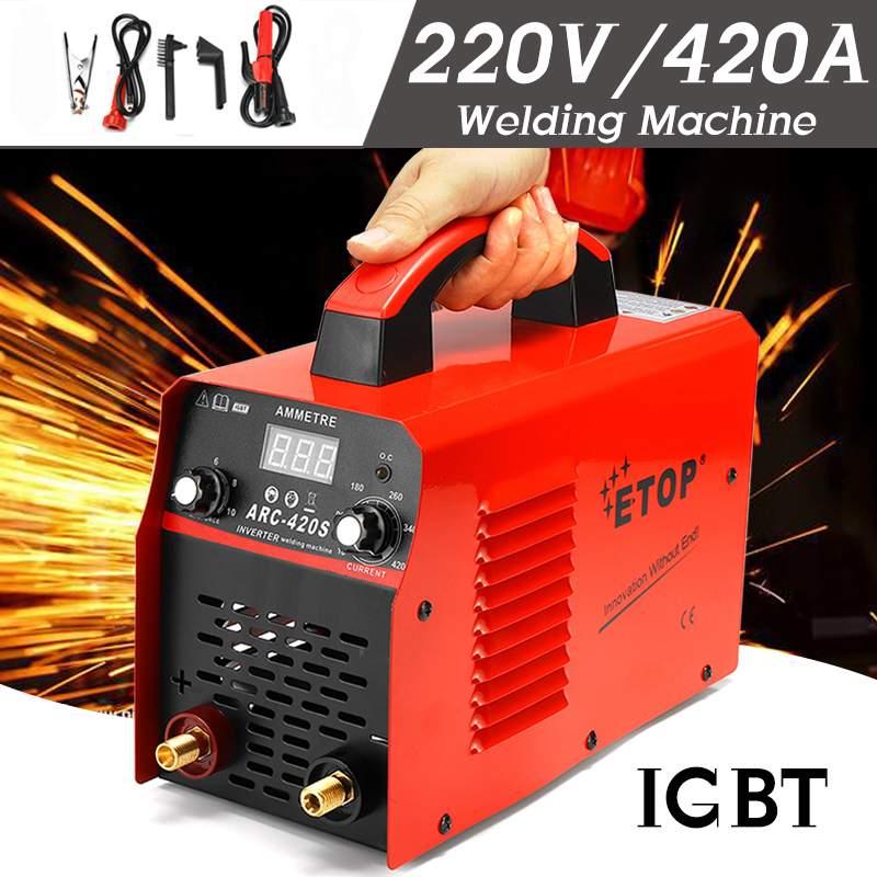 Soldadores a arco 0-420a 220 v handheld inversor igbt mini soldadores de solda a arco elétrico inversor máquina ferramenta