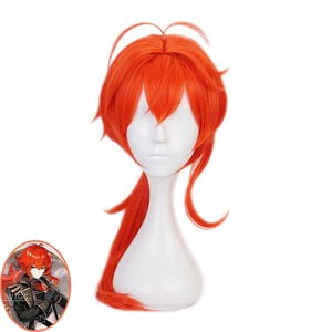 New Arrival Diluc Ragnvindr Wig Cosplay Set Game Genshin Impact Costume Prop Uniform Halloween Costume for Adult