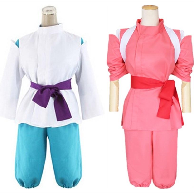 Anime  Spirited Away Cosplay Chihiro Costumes Girls Cute Pink Kimono Halloween Party Japan Style