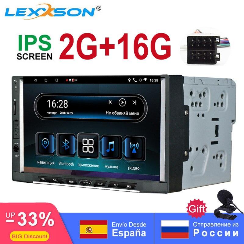 2din android 8,1 coche radio Estéreo Octa Core 2G 16G GPS navegación AM/FM/RDS Auto Radio 7 pulgadas Pantalla táctil IPS 1024X600 SWC WIFI