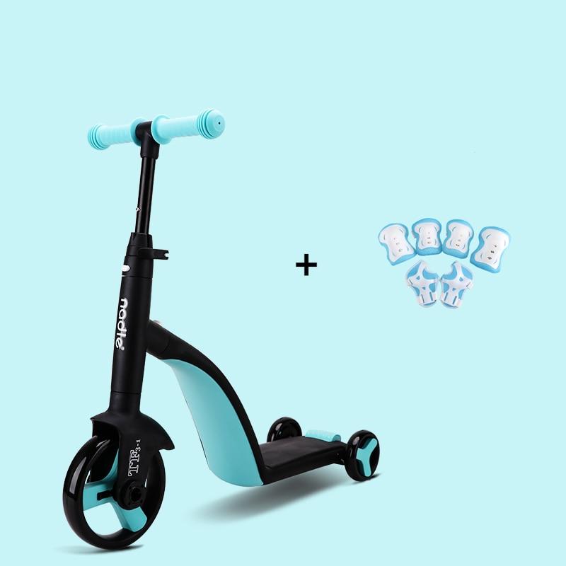 Детский трехв-1 скутер AddFun, новый стиль, большие колеса, скутеры для детей, трансформер, безопасный складной портативный детский скейт