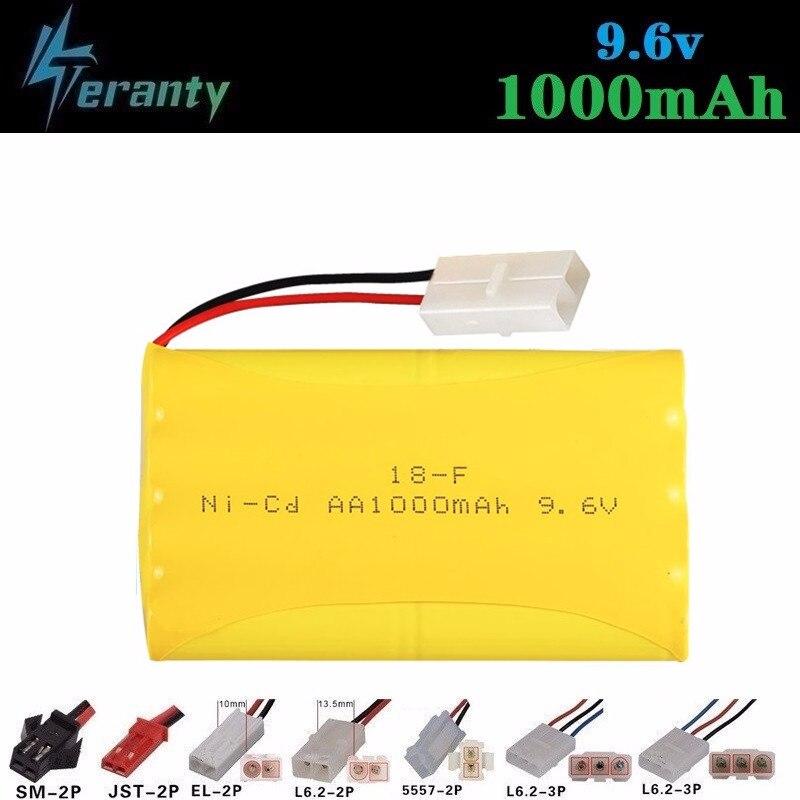 1000mah 9,6 v batería recargable para juguetes Rc coches tanques Robots pistola NiCD batería AA 9,6 v 700mah paquete de baterías para Rc barco 1 Uds