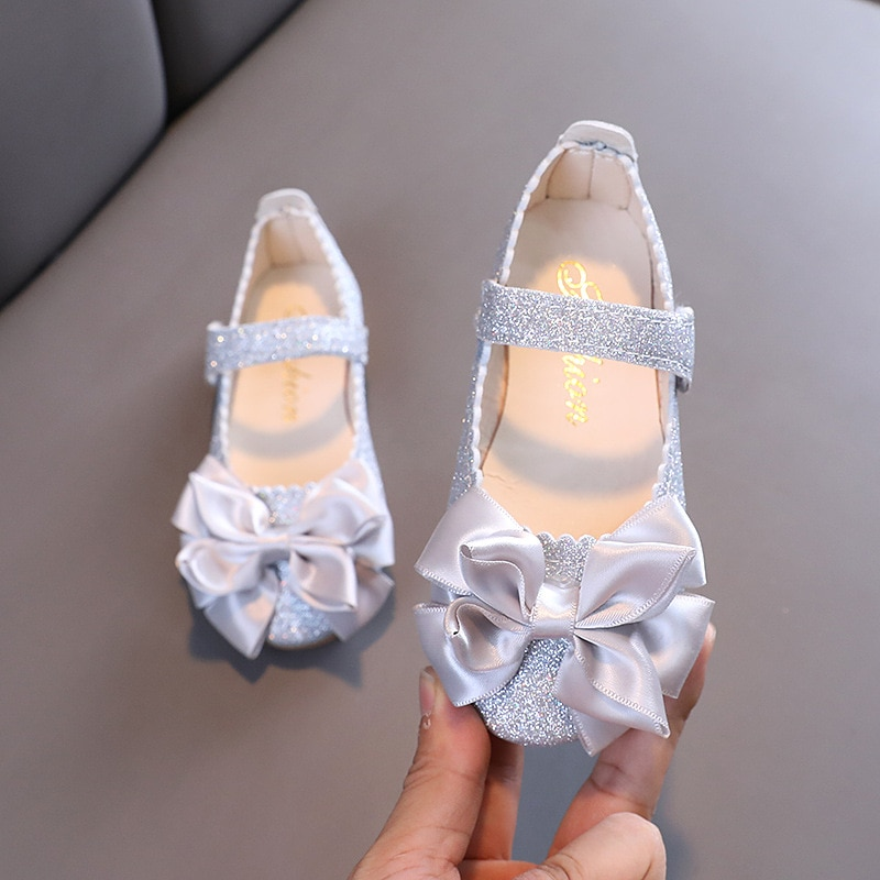 New Bowknot Children Leather Shoes For Wedding Party Dance Little Girls Princess Single Shoes Kids Flat Shoes Comfortable 2-6T girls leather shoes children girls baby princess bowknot sneakers pearl diamond single shoes kids dance shoes newest autumn