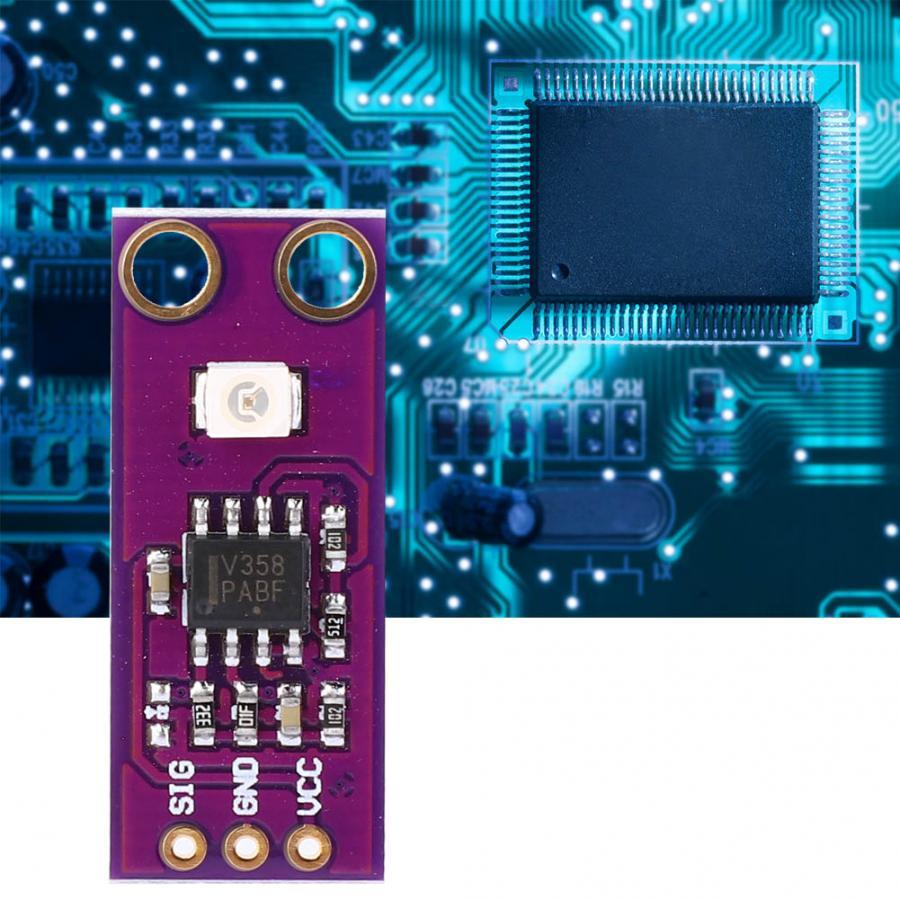 Sensor de luz UV GUVA-S12SD, Sensor de intensidad UV 240 ~ 370nm, Sensor de detección de luz UV para uso múltiple, Luxómetro Digital