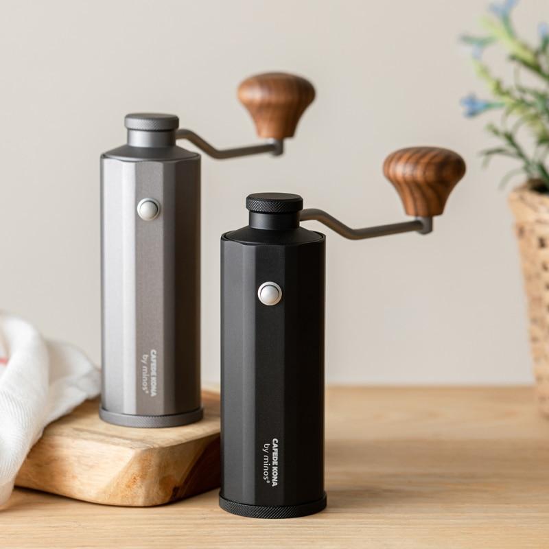 Molinillo de Café Manual de alta calidad, molino de café portátil de aluminio, Mini máquina café, accesorio, herramienta de cocina