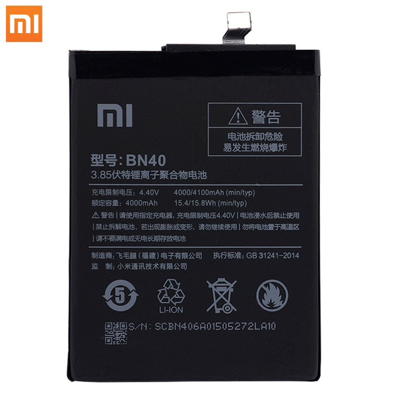 Original Xiaomi Redmi 4 Pro Phone batteries BN40 High Capacity Rechargeable Xiaomi Phone Battery 4000mAh Free Tools Phone AKKU enlarge