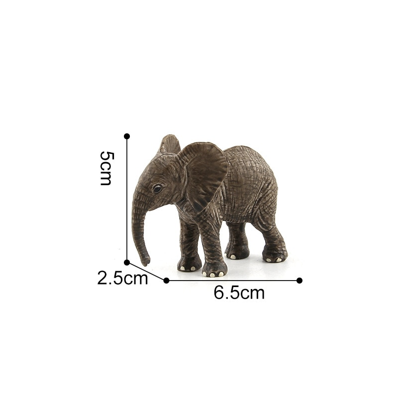 1PC Forest Wild Animal Models Baby Elephant Toys Gifts for Kids Collections DIY