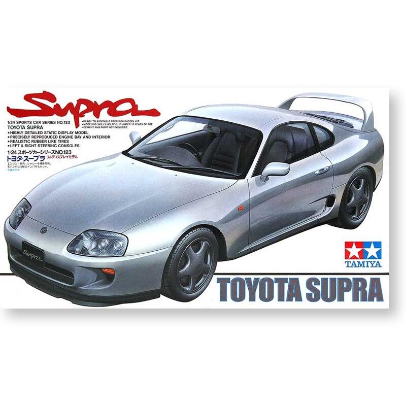 ألعاب تجميع السيارات نموذج أطقم طامية 24123 1:24 مقياس تويوتا سوبرا السيارات الرياضية لتقوم بها بنفسك هدية للأولاد الأطفال الكبار
