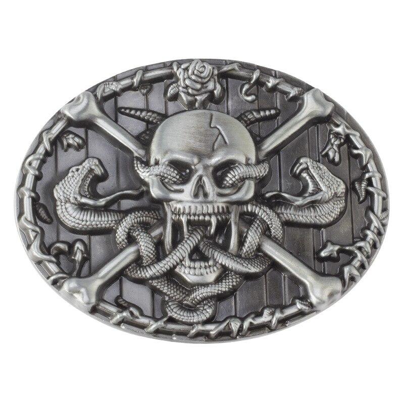 Cinturón de calavera hebilla cinturón DIY accesorios estilo vaquero occidental hebilla de cinturón suave estilo Punk rock k29