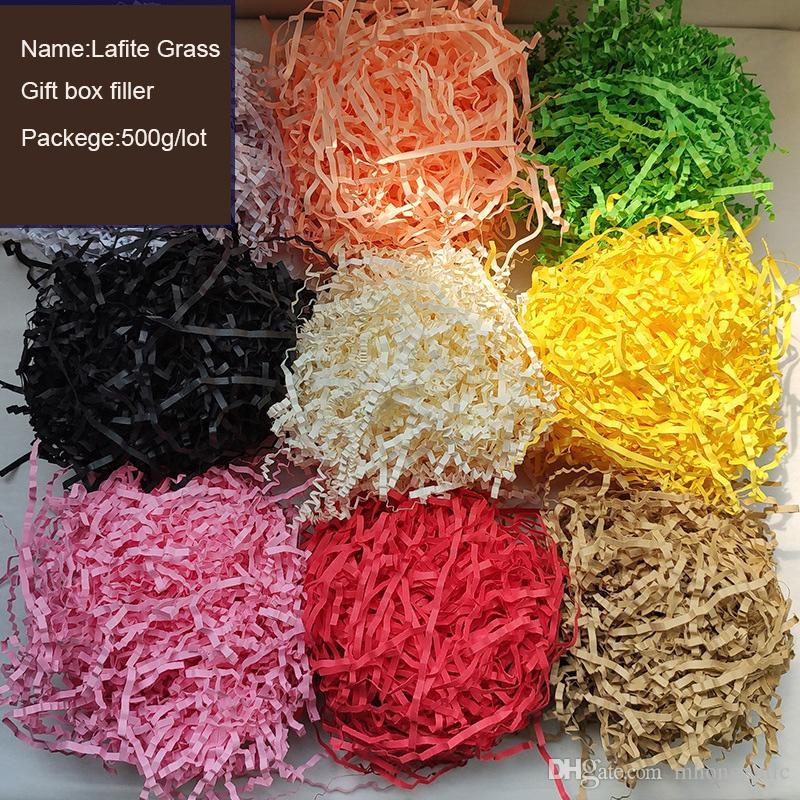 aliexpress.com - Pleated Lafite Grass for Gift Box Filler Wedding Birthday Party Decoration Valentine's Day Gift Packaging Filling Shredded Paper