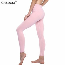 CHSDCSI Sport Leggings femmes Fitness Leggins Yuga Gym taille haute Legging respirant pantalon course musculation Push Up pantalon